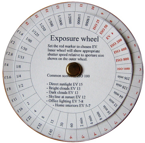 Exposure wheel Credit: Sakaris Ingolfsson http://www.flickr.com/photos/sakariasingolfsson/